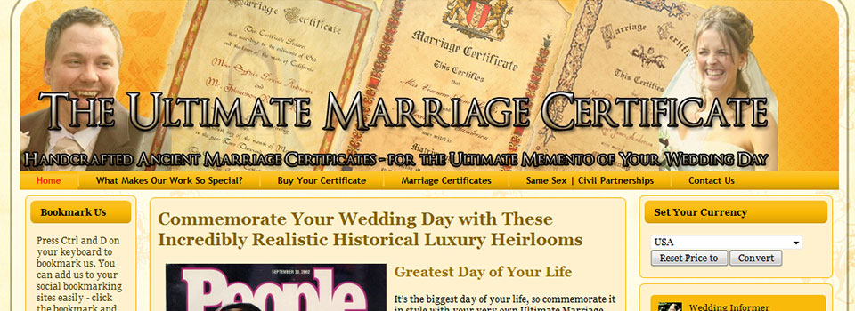 UltimateMarriageCertificate.com