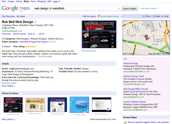 google places entry robbell web design jan2011 Googlification   Make Better Use of Googles Resources