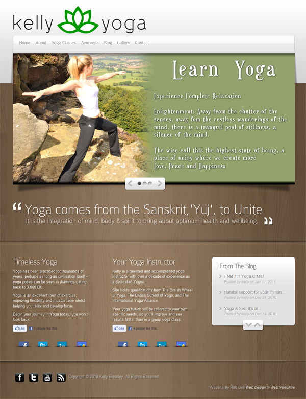 Website Design - Kelly Yoga